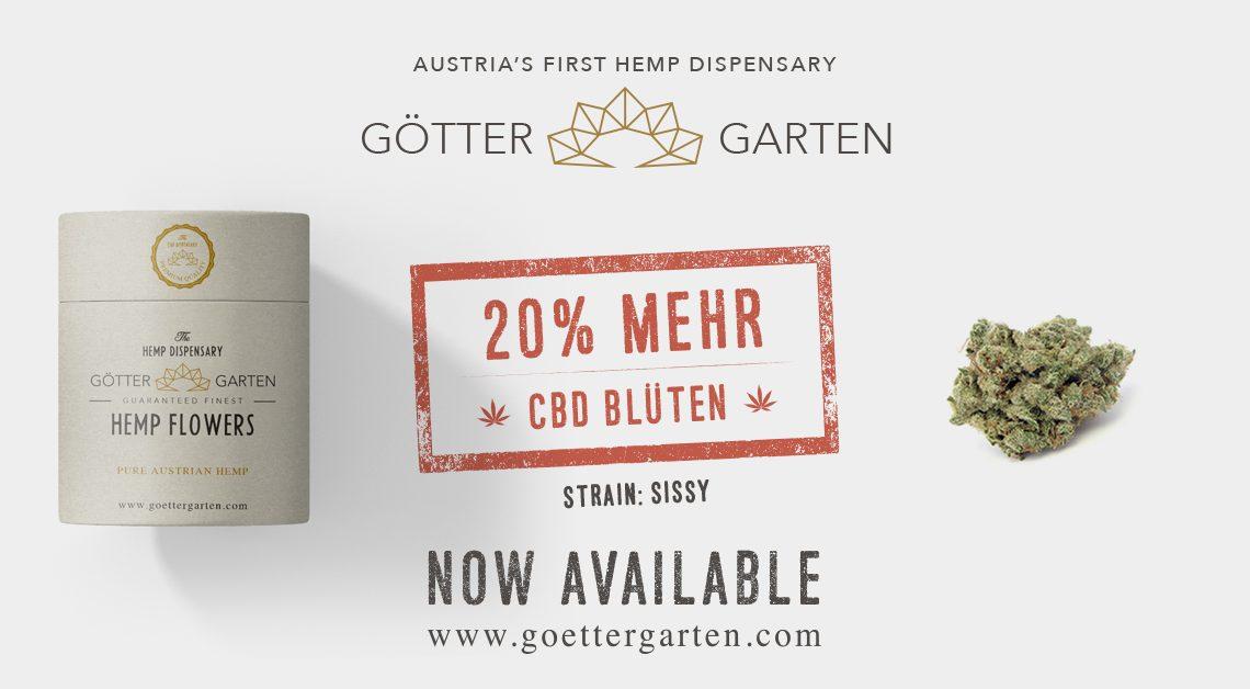 Göttergarten 20% mehr CBD Blüten Angebot